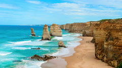 The Twelve Apostles, Victoria,Australia Stock Footage