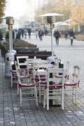 Sofia Bulgaria Street Cafe - stock photo