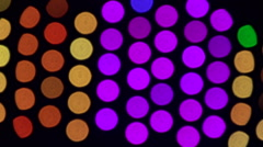 Multi-colored blinking lights  Stock Footage