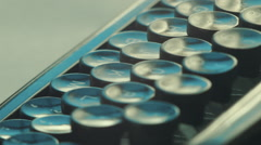 Creative writing typewriter - stock footage