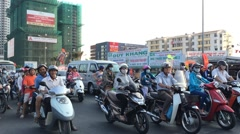 South Saigon street traffic in district seven Stock Footage