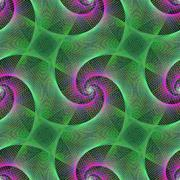 Stock Illustration of Green and purple repeating spiral fractal