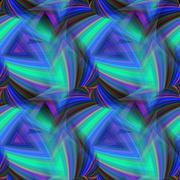 Repeating triangular fractal pattern of cold colors - stock illustration
