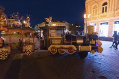 Nizhny Novgorod, Russia -04.11.2015. The attraction to children's train on - stock photo