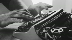 Creative writing typewriter - stock footage