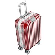 Red luggage on wheels - stock illustration