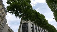 Monoprix Elysees on Avenue des Champs-Elysees, Paris Stock Footage