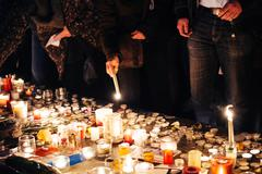 Stock Photo of People gathering in solidarity with victims from Paris assaults