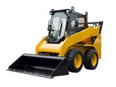 Small bulldozer Stock Photos