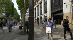 La Boetie Gallery on Avenue des Champs-Elysees, Paris Stock Footage