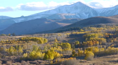 Time Lapse of Clouds over Alpine Peaks Fall Foliage in Sierra Nevada -Long- Stock Footage