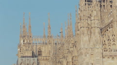 Famous cathedral piazza duomo in Milan Stock Footage