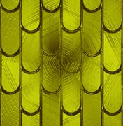 "Pattern ""tile"" on a green glass - stock illustration"