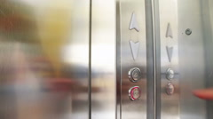 Push on the Button In the Elevator Stock Footage