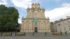 Visitationist Church or Church of St. Joseph of the Visitationists in Warsaw Stock Footage