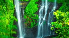 4K Timelapse. Sekumpul waterfall high about 80 meters or 262 feet tall Stock Footage