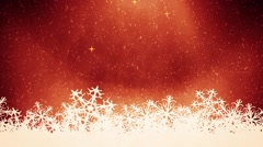 Red christmas background Stock Footage