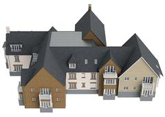 Two storey cottage, top view Stock Illustration