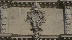 Stock Video Footage of Mural relief sculpture on a building in Venice