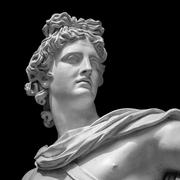 Apollo Belvedere statue Detail - stock photo
