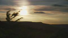 Sunset on Ilkley Moor in West Yorkshire Stock Footage