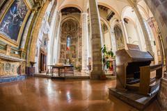 Church interior at Assisi, Italy Stock Photos