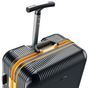 Luggage on wheels, zoomed view - stock illustration