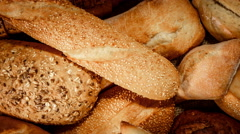 Breads and baked goods Stock Footage