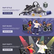Rap Music Banner - stock illustration