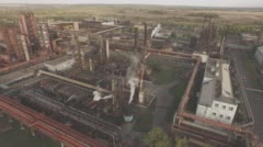 Aerial view of industrial infrastructure, at the Coke production. - stock footage