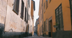 Empty Narrow Street in Stockholm, Sweden - stock footage