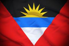 Antigua and Barbuda Flag - stock illustration
