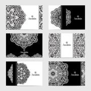 Mandala Card Set Stock Illustration