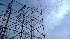 Metal truss against the sky Stock Footage