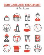 Skin Cosmetics Icons Set Stock Illustration