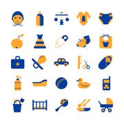 Baby Care Icon Set Stock Illustration