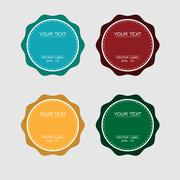 Four color version of badge Stock Illustration