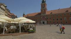 La Dolce Vita italian restaurant in Old Town, Warsaw Stock Footage