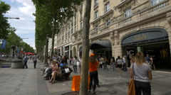 Galerie du Claridge - a small shopping gallery on Av. des Champs-Elysees, Paris Stock Footage