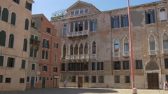 Stock Video Footage of Old building with arches in Campo San Maurizio, Venice