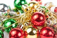 Christmas tree balls Stock Photos