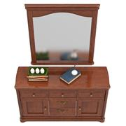 Dresser with mirror, top view Stock Illustration
