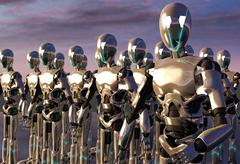 Robot android army Stock Illustration