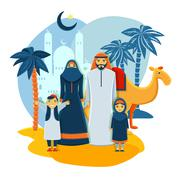 Muslim Family Concept Stock Illustration