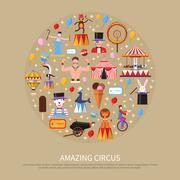 Amazing Circus Concept - stock illustration