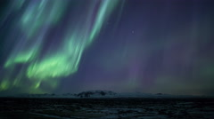 Strong bright aurora borealis Thingvellir Park Iceland realistic movement 4k Stock Footage