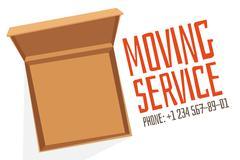 Move service box full vector illustration - stock illustration