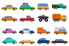 Cars Icons Set - stock illustration