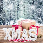 Handmade gift boxes - stock photo