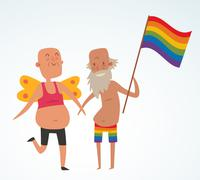 Homosexual gay people couple vector Stock Illustration
